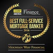 Mountain West Financial Named Best Full Service Mortgage Banker